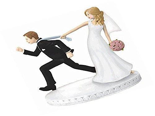 "41nGhrkueaL Comical Tie-Puller Wedding Cake Topper Party Supply, 1 Pieces, Made from Plastic, Elegant Wedding, 4 1/8"" by Amscan"