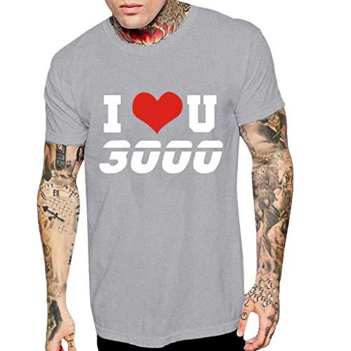 (T-Shirts for Men, Kiasebu Men's Letter and Digital Printing T-Shirt Csaual Short Sleeve Tees Top Blouse Size S-L23 Gray)
