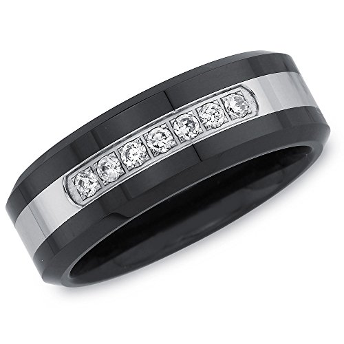 Mens 1/6ct Diamond Wedding Band (Wedding Bands For Men Diamond)