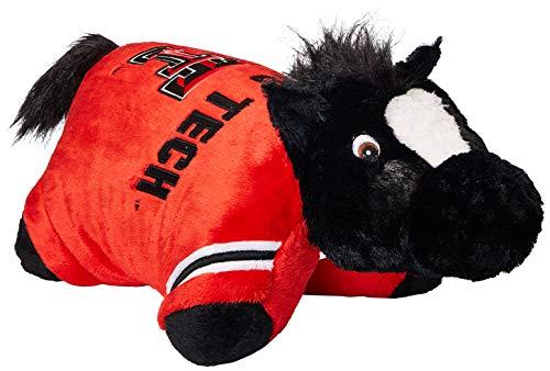- Fabrique Innovations NCAA Pillow Pet, Texas Tech Red Raiders