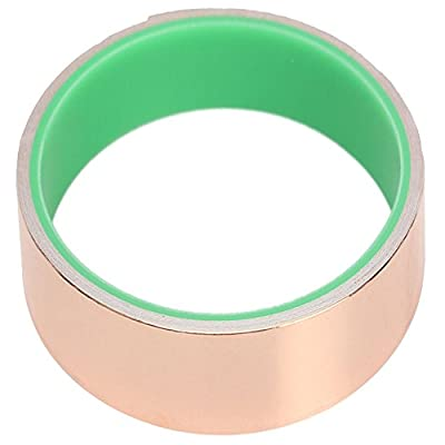 Tilesii Copper Foil Tape (1.50in X 9.84ft) for Guitar & EMI Shielding, Slug Repellent, Crafts, Electrical Repairs, Grounding - Conductive Adhesive - 39% Thicker Foil