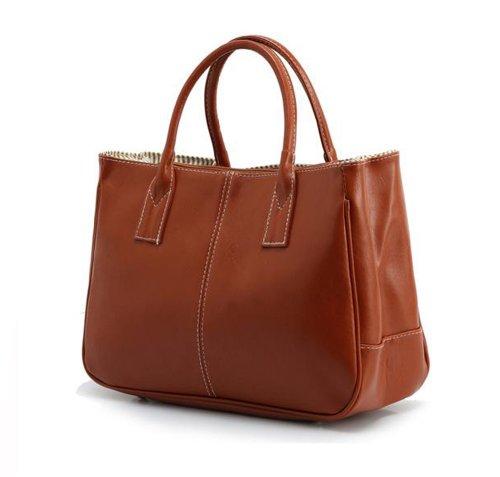 Brown Purse Summer Snap Handbag Tonwhar Tote Faux Lady Leather Magnetic Office vTTBnz