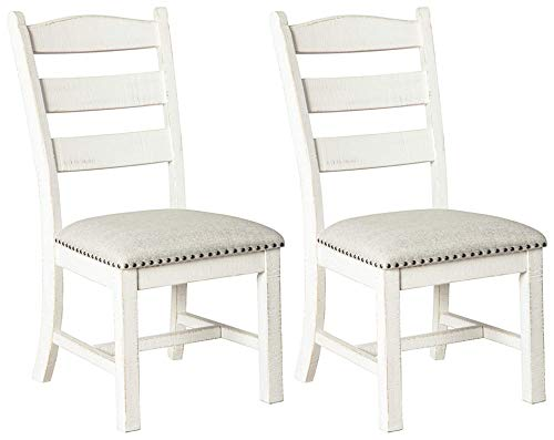 Signature Design By Ashley - Valebeck Dining Chairs - Set of 2 - Casual Style - White