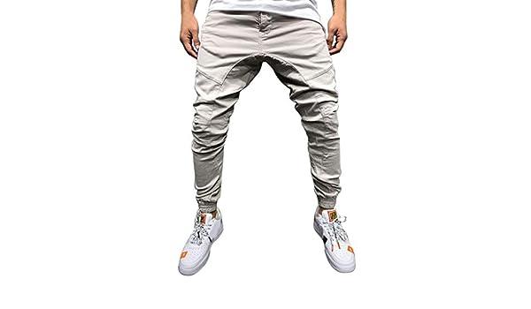 LuckyGirls Pantalón Cargo Hombre Pitillo Moda Pantalones Trabillas ...