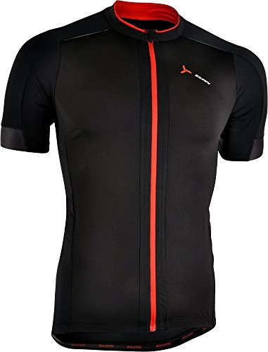 (SILVINI Men's Mountain Bike Jersey Ceno in Black for Cycling and All Other Outdoor Activities - Size L)