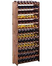 """Wijnrek / flessenrek systeem """"Optiplus"""" model 5, voor 91 Fl, houtcomposietstof, bruin gebeitst"""