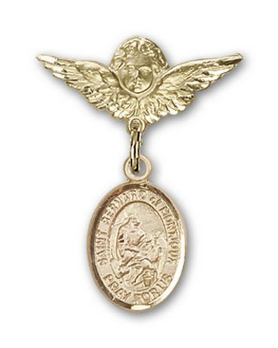 Icecarats Or Bijoux De Créateurs Rempli R. Bernard De La Broche Badge Montjoux Charme D'Ange 1 X 3/4