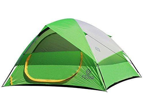 Nassi Equipment Feirr Collection 4-Person Dome Tent for Camping with Carry Bag and Repair Kit, Portable Waterproof Family Tent, 4-Season Use
