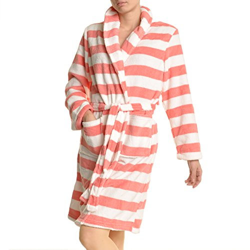 Angelina Premium Micro-Fleece Bathrobes - Microfleece Womens Bathrobe