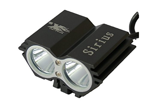 Sirius 2000 Lumens Rechargeable LED Bike Front Light , HeadLamp with Waterproof Battery Pack