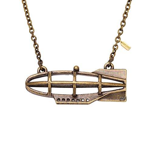 MANZHEN SteamPunk Style Submarine Necklace Sherlock Holmes Gift for Men