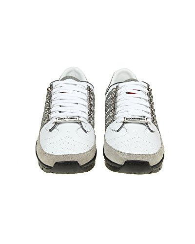 Pelle Snm01011157m182 In Dsquared2 Bianca Sneakers Uomo q8In7Z
