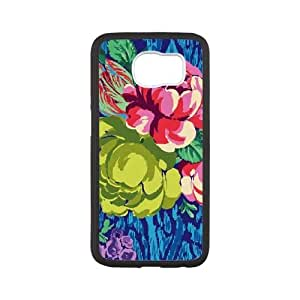 Hapi Tapestry Rose Sapphire Samsung Galaxy S6 Cell Phone Case White Protect your phone BVS_763732
