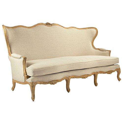 Vienne French Country Wing Back Beige Sofa