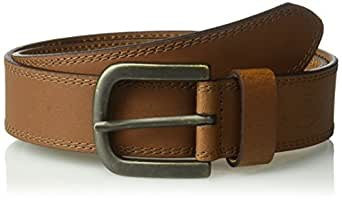 Dickies Men's Dickies Mens 1 1/2 In. Leather Belt With Two Row Stitch, tan, 32