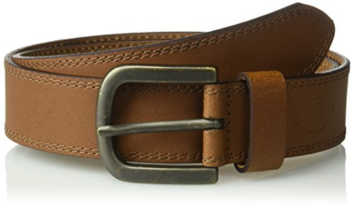Dickies Men's Dickies Mens 1 1/2 In. Leather Belt With Two Row Stitch, tan, 44