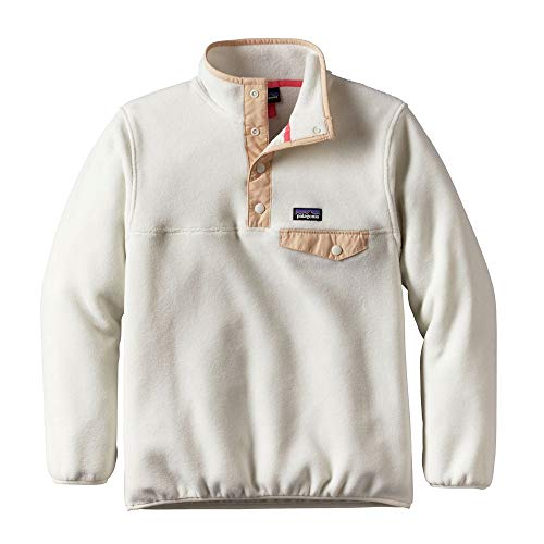 Patagonia Girls' Lightweight Synchilla Snap-T Pullover Birch White Medium ()