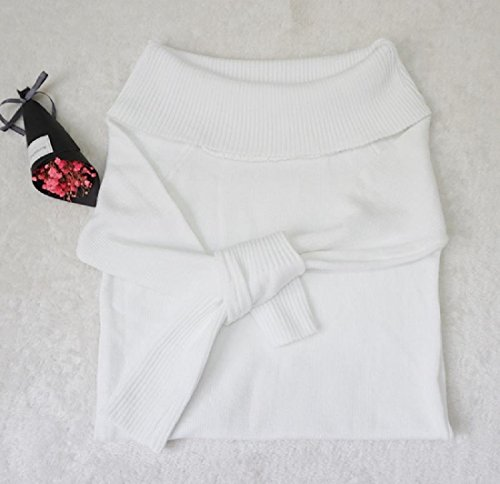 Cocktail Slim Comfy Mama Solid Clothes Dress White Shoulder Pencil Off Women's F7qY0