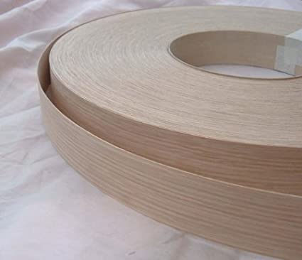 Pre Glued Iron on Oak Wood Veneer Edging Tape 30mm wide x 5 Metres...Free Postage