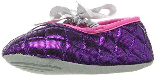 Stride Rite Girls' Ballet Slipper, Mary Jane Heart-Metallic Purple, 11/12 M US Little Kid