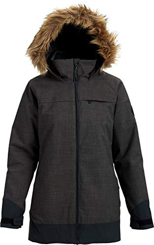 Glove Snowboard Burton Womens (Burton Women's Lelah Jacket, Heather Black/True Black, Small)