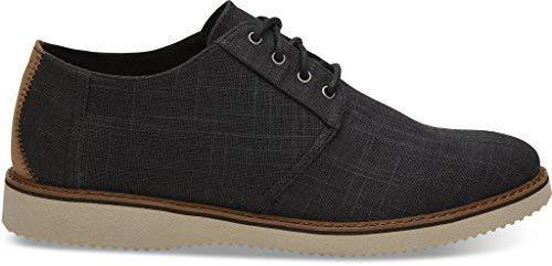 TOMS Men's Preston Dress Shoes Black Linen 10011584