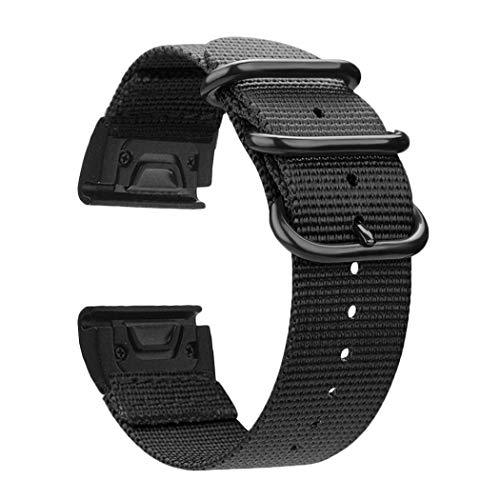 Azadodo Compatible Garmin Fenix 5X Plus Quick Fit NATO Nylon Watch Band, Nylon Strap Garmin Fenix 5X / Quatix 3 / D2 Charlie/Descent MK1 / Fenix 3 HR/Fenix 3 / - Band Charlie