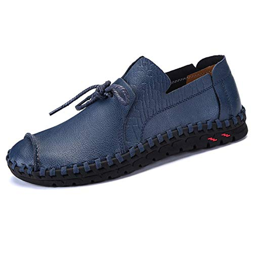 Men's Leather Casual Loafers Breathable Summer Walking Shoes Lightweight Fisherman Comfort Sandals