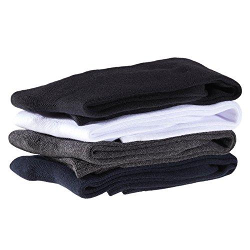 Lian LifeStyle Unisex Children 4 Pairs High Crew Combed Cotton Socks 3 Sizes (5Y-15Y)