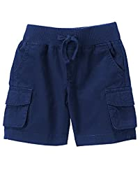 Crazy 8 Baby Toddler Boys\' Li\'l Cargo Short, Handsome Navy, 18-24 Months