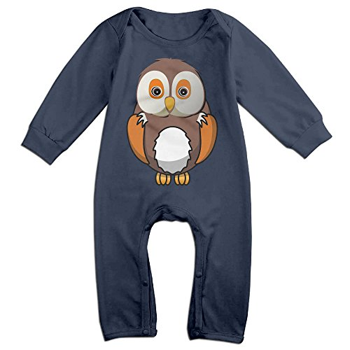[VanillaBubble Owl Design For 6-24 Months Baby Awesome Long Sleeved Tee Navy Size 6 M] (Wreck It Ralph Costume For Girls)