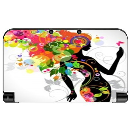 Sticker Skin Print Colorful Floral Beautiful Girl Big Hair Printed Design New 3DS XL 2015 Vinyl Decal Sticker Skin by Smarter Designs ()