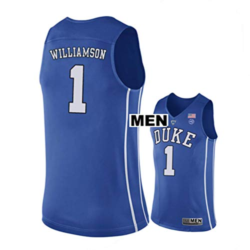 NBFans 2018 Williamson no. 1 Stitched Duke Blue Devils Mens College Basketball Jersey (Blue, Mens M)