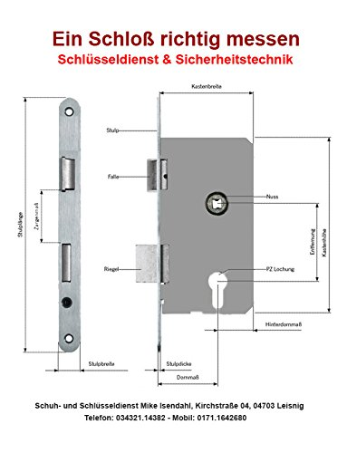 Rohrrahmenschlo/ß WILKA 1438 PZ92//45//24mm Flachstulp