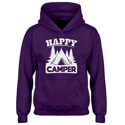 - Indica Plateau Kids Hoodie Happy Camper Medium Purple Hoodie