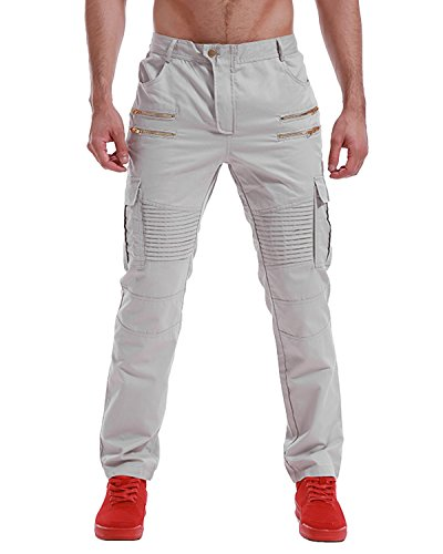 - MODCHOK Men's Twill Cargo Pants Work Trousers Casual Joggers Loose Fit Chinos Khaki XL