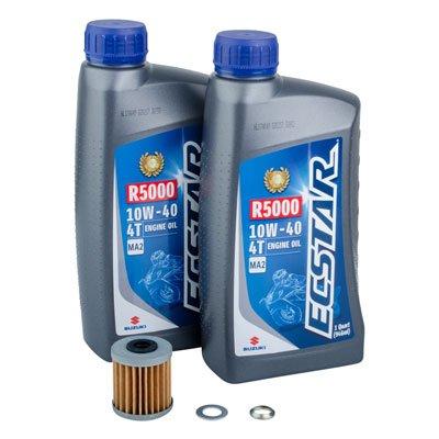 Tusk 4-Stroke Oil Change Kit Suzuki ECSTAR R5000 10W-40 - Fits: Suzuki RMX450Z 2010