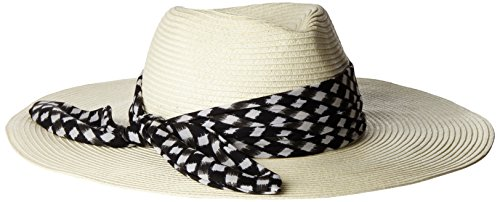 Genie by Eugenia Kim Women's Willa Wide-Brim Fedora, Ivory, One Size by Genie by Eugenia Kim