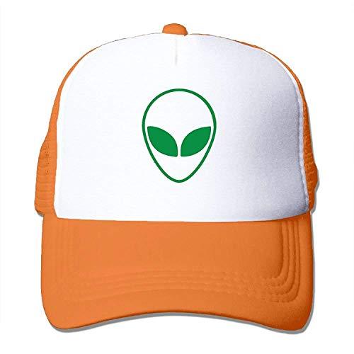 (Green Alien Head UFO Mesh Trucker Caps/Hats Adjustable Unisex Black)