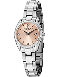 Stuhrling Original Womens 414L.02 Classic Ascot Prime Watch with Pink Dial and Swarovski Crystals