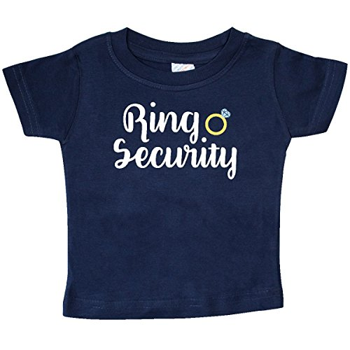 (inktastic - Ringbearer Ring Security White Text Baby T-Shirt 6 Months Navy 28b11)