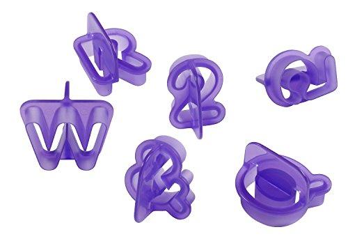 Wilton 417-2589 40-Piece Fondant Alphabet Number Cutouts