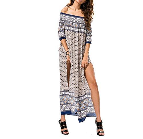 Mujer Ocio Playa Envuelta En El Pecho El Largo Suelto Se Puso Un Tipo Grande Vestido LightBrown