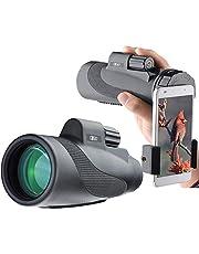 Gosky Titan High Power Prism Monocular and Quick Smartphone Holder - Waterdichte Fog- proof Shockproof Scope, Monokular-Halterung für Mobiltelefon, 12 x 50 cm