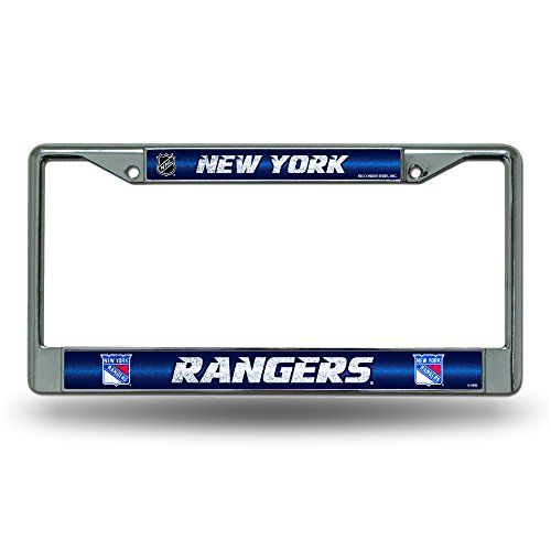 - NHL New York Rangers Bling Chrome License Plate Frame with Glitter Accent