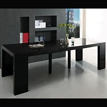 Table console extensible qualite - Table console extensible pied central ...