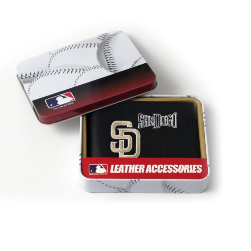 MLB San Diego Padres Embroidered Genuine Cowhide Leather Billfold Wallet