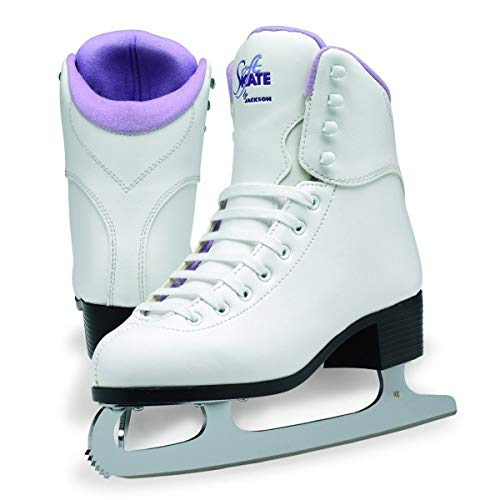 SoftSkate by Jackson GS180 Womens Ice Skates, Recreational Figure Skating (Purple Lining, 4)