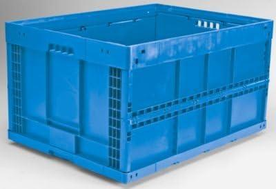 Plegable caja de polipropileno – neta 168 L, 800 x 600 x 445 mm, VE 2 Stk –