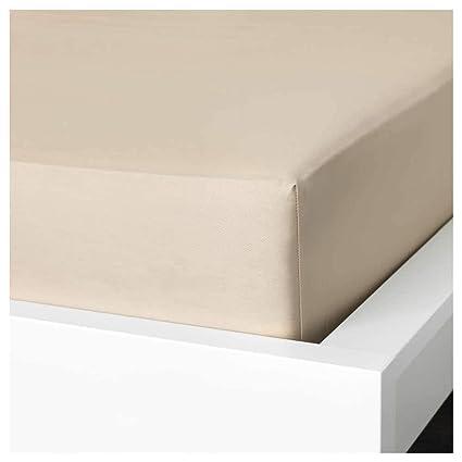 IKEA ASIA NATTJASMIN - Sábana Bajera Ajustable, Color Beige